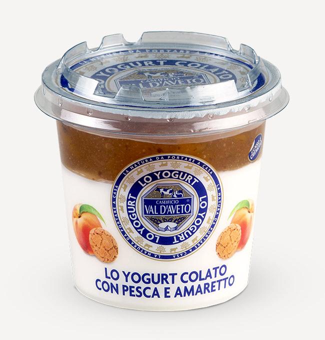 yogurt pesca e amaretto val d'aveto
