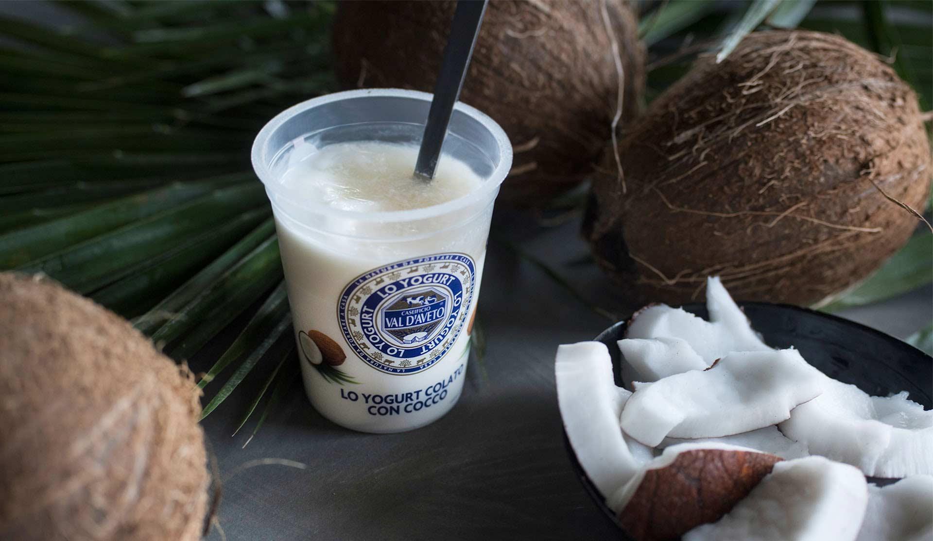 Yogurt colato Val d'Aveto con cocco
