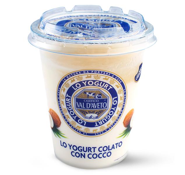 Yogurt colato con cocco Val d'Aveto