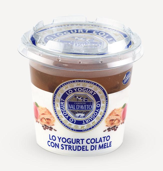 yogurt colato strudel di mele-caseificio Val d'Aveto categoria