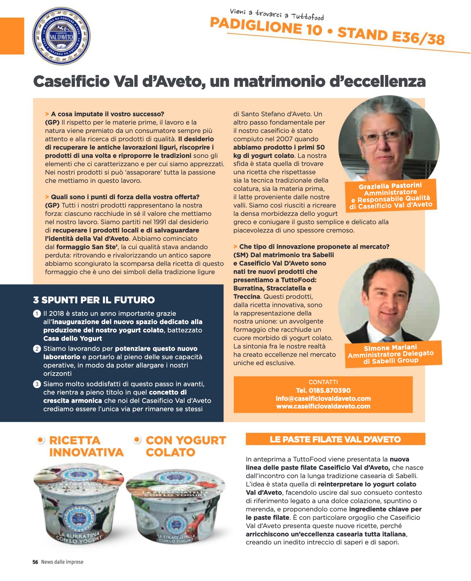 Intervista Caseificio Val D'Aveto Food