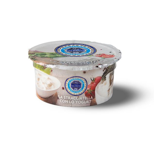 Stracciatella con lo yogurt colato caseificio Val D'Aveto