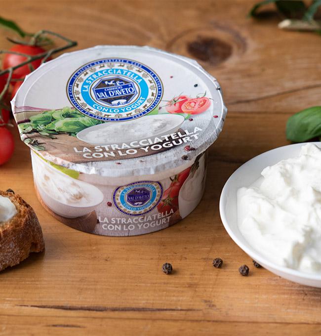 Stracciatella con lo yogurt colato categoria caseificio Val D'Aveto