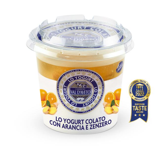 Yogurt Arancia e zenzero Caseificio Val d'Aveto